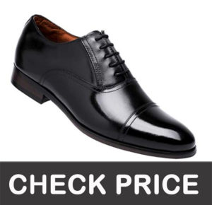 DESAI Leather Oxford Dress Shoes for Men Cap Toe Lace up