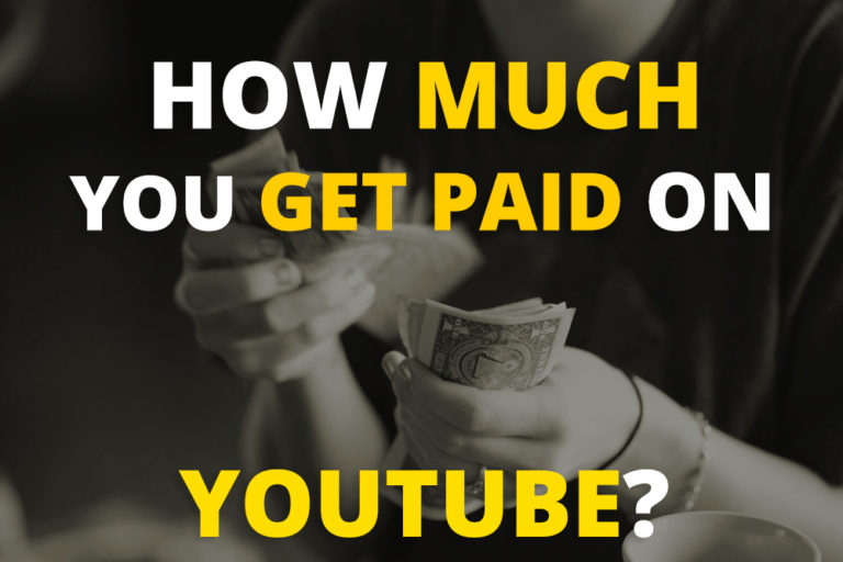 how much you get paid on youtube?
