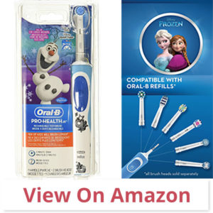 Oral-B Frozen Kids - best toothbrush for braces for kids