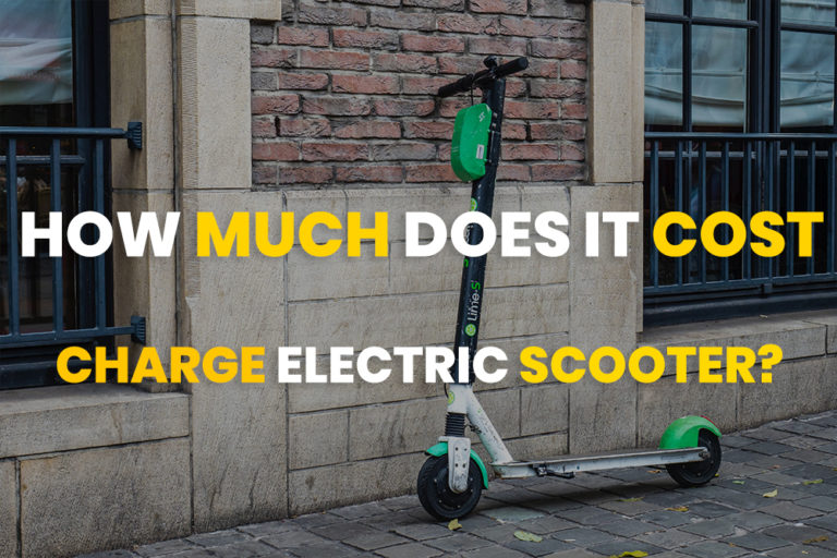 how much does it cost to charge an electric scooter?