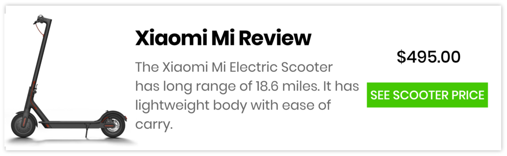 Xiaomi Electric Scooter Price