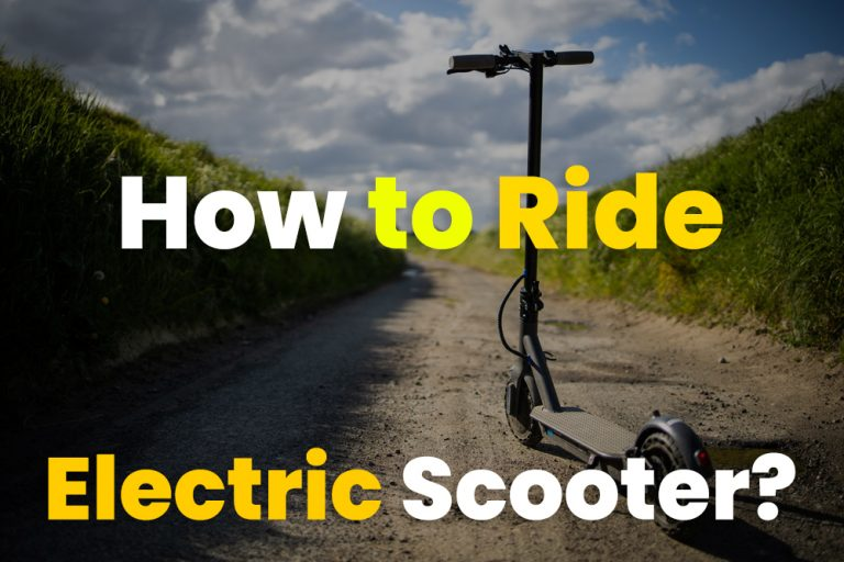 How to Ride an Electric Scooter
