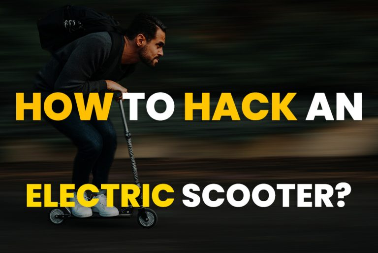 HOW TO HACK AN ELECTRIC SCOOTER