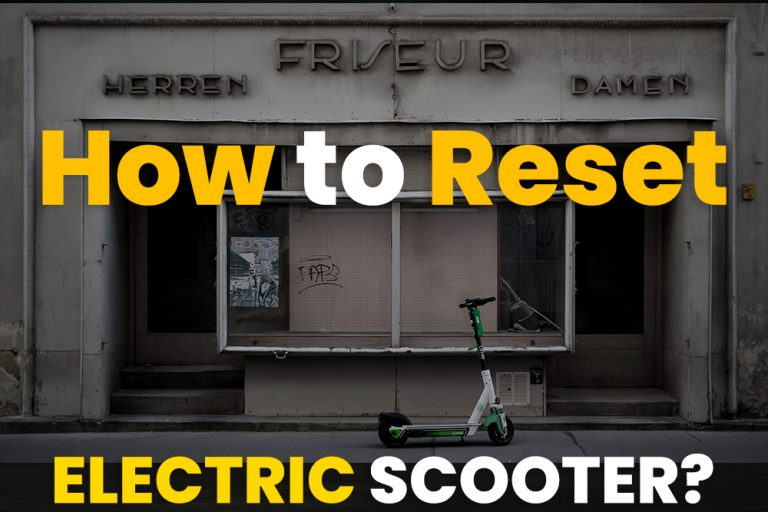 how to reset electric scooter
