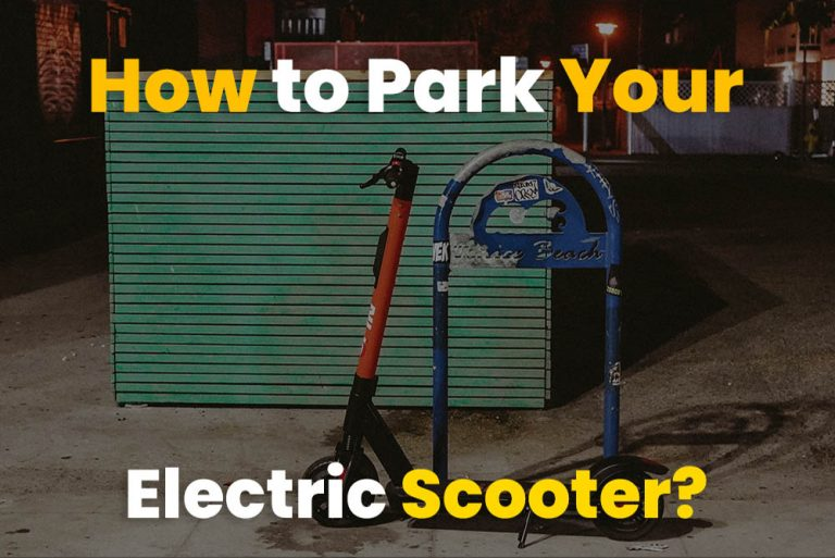 How to Park your Electric Scooter