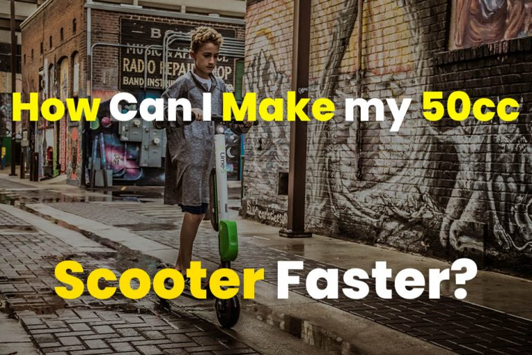 How Can I Make my 50cc Scooter Faster?